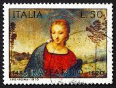 Postage stamp Italy 1970 Madonna of the Goldfinch