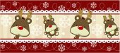 cute christmas seamless border