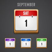 Vector illustration of high-detailed calendar icon