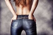 picture of hot pants  - female model wearing a pair of pants - JPG