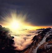 A Foggy Sunset