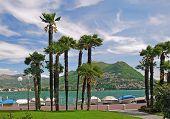Promenade of Lugano,Switzerland