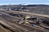 Overburden excavator in brown coal mine