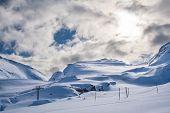 Ski Lift In Alps