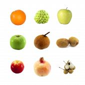 Fruits isolated