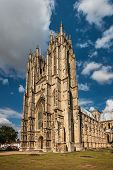 Facade of the Beverley Minster, Yorkshire, England