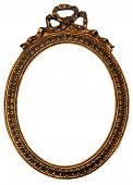 Old Gold Wood Mirror Frame With Ornaments 2