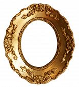 Small Old Gold Wood Mirror Frame With Ornaments
