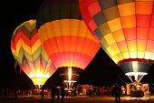 Hot Air Balloons Light Up The Dawn