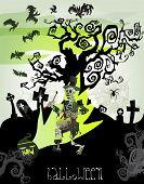 Cartão de vetor de Helloween