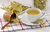 foto of lime-blossom  - Lime Blossom Tea in a cup - JPG