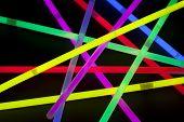 Close-up of multicolor glow sticks