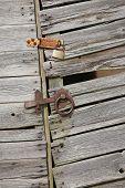 Old Wooden Shed Door