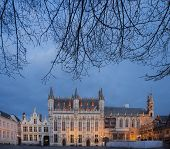 Bruges Historical Town Hall Building