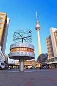 Alexanderplatz Tv tower and world clock