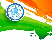 paint style indian flag design