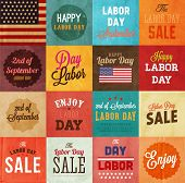 image of labor  - American Labor day designs set - JPG
