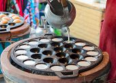 Thai Grilled Coconut-rice Pancakes kanom Krok