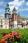 tourists visiting Royal Archcathedral Basilica of Saints Stanislaus and Wenceslaus,Wawel Hill,Krakow