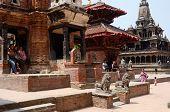 local people resting at Durbar Square,Patan,Nepal