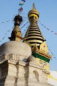 Swayambhunath Stupa Or Monkey Temple,Kathmandu, Nepal, Asia