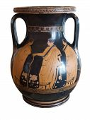 Ancient Greek Vase Exposed In Museum