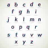 Lower case alphabet set