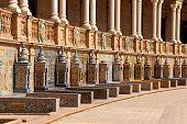 Detail Of Palacio Espanol In Seville, Spain