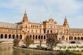 Palacio Espanol In Plaza De Espana, Seville