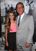 LOS ANGELES - JUL 10:  Aaron Sorkin & daiughter Roxy arrives to the 'HBO's