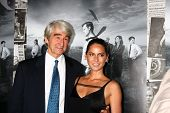 LOS ANGELES - JUL 10:  Sam Waterston, Olivia Munn arrives at the HBO series