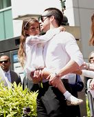 LOS ANGELES - JUN 19:  Casper Smart and Emme arrives to the Walk of Fame Honors Jennifer Lopez  on J