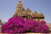 Khajuraho Kandariya Temple With Flowers,  India