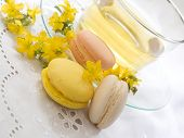 st john's wort tea with fresh macaroons