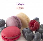 macaroons with berry fruit