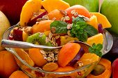 Fruit salad - diet, healthy breakfast , weight loss