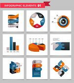Elements and icons of graphic info, Vintage infographics set