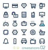 Universal icons set Perfect lines 02
