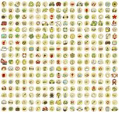 stock photo of xxl  - XXL Collection of 289 doodled icons for every occasion No - JPG