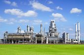 picture of fumes  - Refinery plant at Europort harbor Rotterdam - JPG