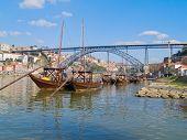 barcos tradicionales Oporto, Oporto, Portugal