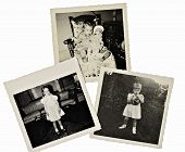Retro Scrapbook Photos Of Girl