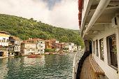 Passenger Boat Approaching Anadolu Kavagi, Istanbul, Turkey