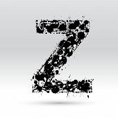 Letra Z formado por manchas de tinta
