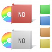 No. Box with compact disc. Raster illustration. Vector version is in my portfolio.
