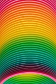 Rainbow Colours Of A Plastic Slinky Toy