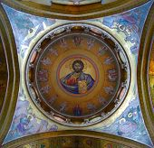 image of the lost sheep  - Jesus looks down on the Church of the Holy Sepulcher Jerusalem - JPG