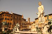 Fountain Of Neptune In Florence.