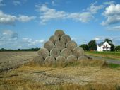 A Pile Of Straw On The Field Next To The House, The Polish Village poster