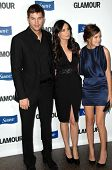 Ashton Kutcher with Demi Moore and Tallulah Belle Willis  at the 2008 Glamour Reel Moments Gala. Directors Guild of America, Los Angeles, CA. 10-14-08